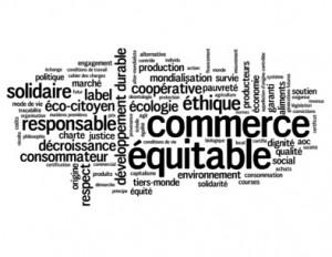 """Nuage de Tags """"COMMERCE EQUITABLE"""" (développement durable label Fotolia_49935966_XS.jpg"""